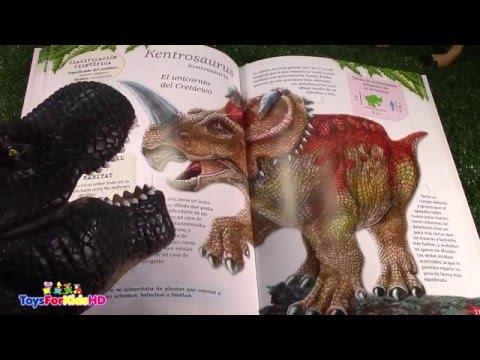Libro de dinosaurios Carnotaurus - kentrosaurus -Chasmosaurus -Videos de dinosaurios ToysForKidsHD