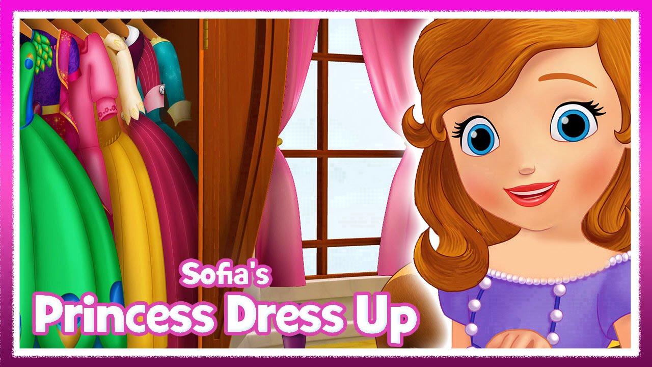Sofia\'s Princess Dress Up - Disney Junior Girls Dress Up Games - YouTube