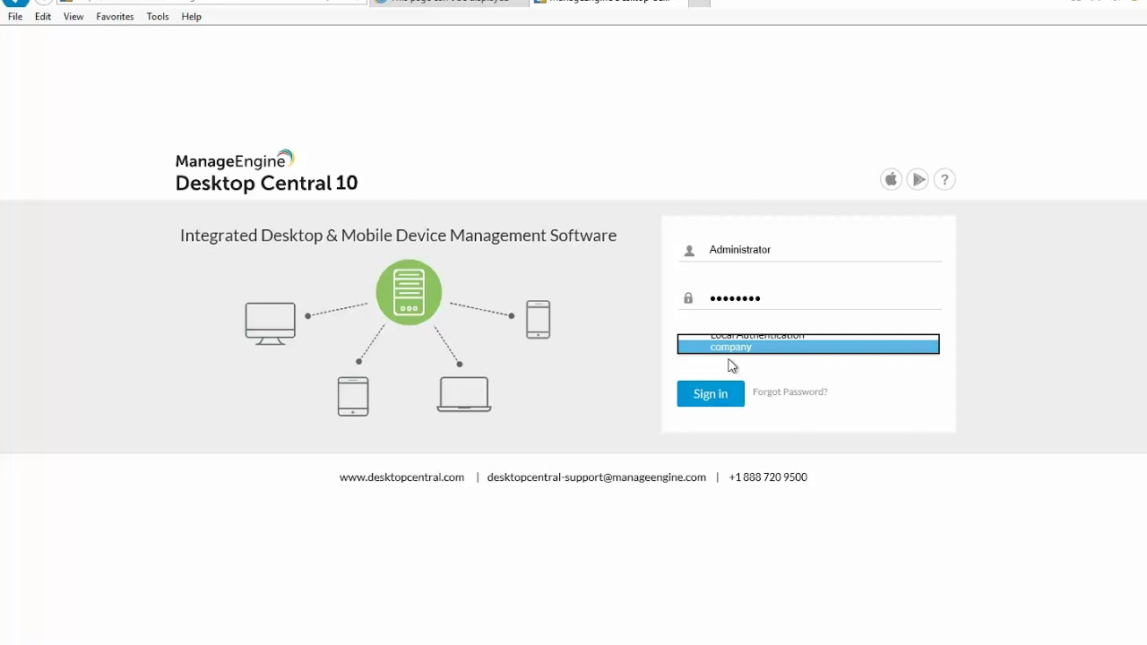 How to install and configuration manageengine desktop central 10