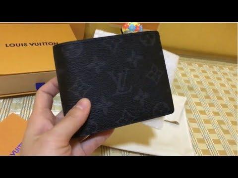af935c806687 LV MEN S Wallet Review  Louis Vuitton Multiple Wallet in Black Monogram  Eclipse M62294