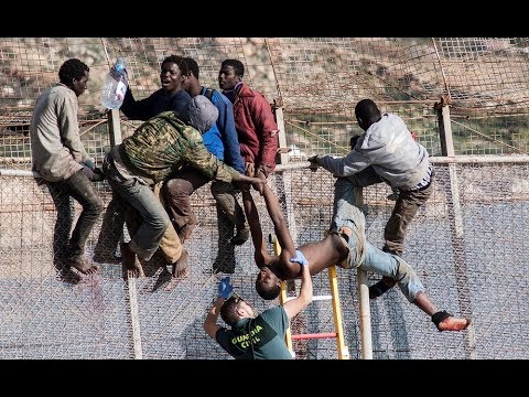 the most dangerous  Journey from Africa Libya and  Morocco to Europe
