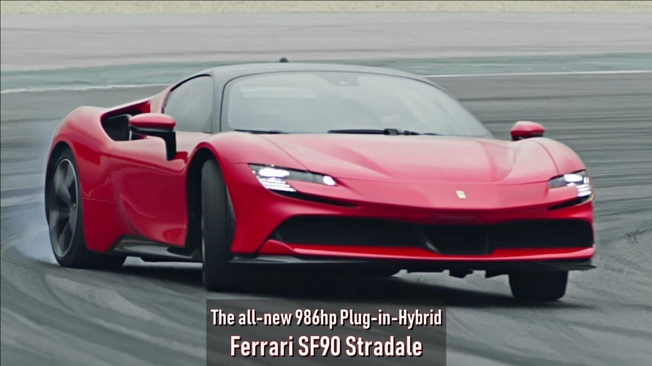 The New 986hp Plug In Hybrid Ferrari Sf90 Stradale Youtube