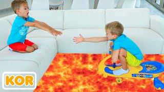 바닥은 애니메이션 블라드와 니키 용암 더 많은 아이들이 비디오입니다