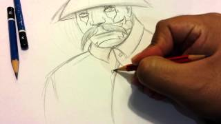 Drawing a cholo with clown face LA mexican  style