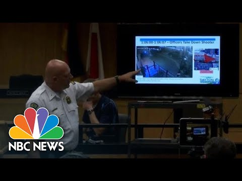 Police Review Dayton Mass Shooting Video Evidence, Frame By Frame | NBC News