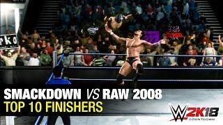 Top 10 Finishers in WWE Smackdown vs. Raw 2008 | WWE 2K18 Countdown