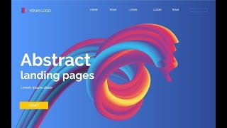 Landing Page - Abstract Background #4 - Blend Tool  - Adobe Illustrator Tutorial