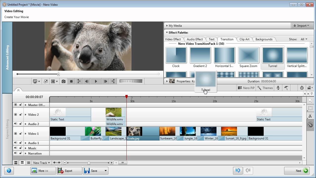 Enhancing Windows Live Movie Maker Projects With Nero