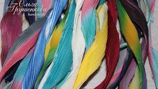 Шелковые ленты шибори   silk shibori ribbon