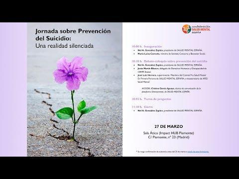 Streaming Jornada sobre Prevención del Suicidio: Una realidad silenciada