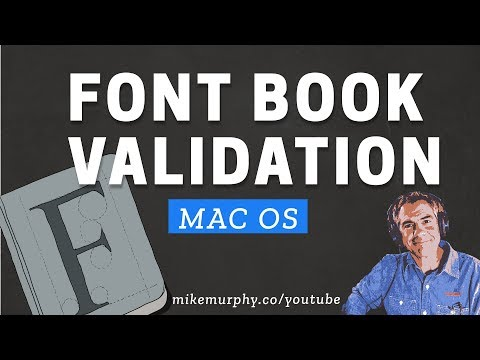 Mac OS: Use Font Book To Validate & Resolve Duplicate Fonts