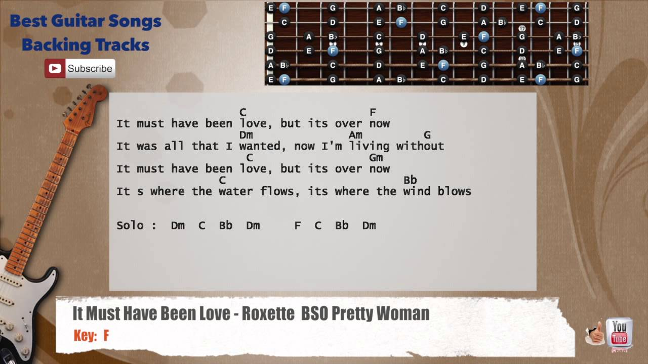 It Must Have Been Love Roxette Pretty Woman Guitar Backing Track