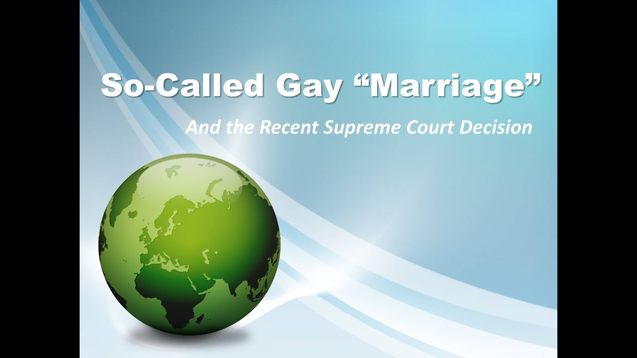 from Moshe gay marriage is called