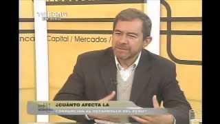El impacto de la corrupción en la economía: Carlos Contreras en Punto Económico de TV Perú