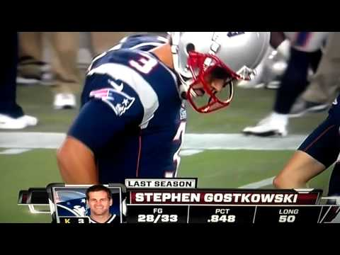Stephen Gostkowski grabs his junk live on MNF