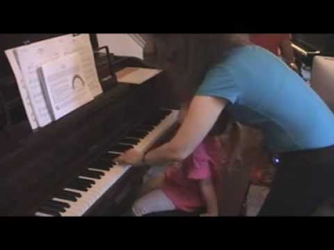 Part 5,  A 4year olds first piano lesson, relaxation techniques, Teacher, Shirley Kirsten