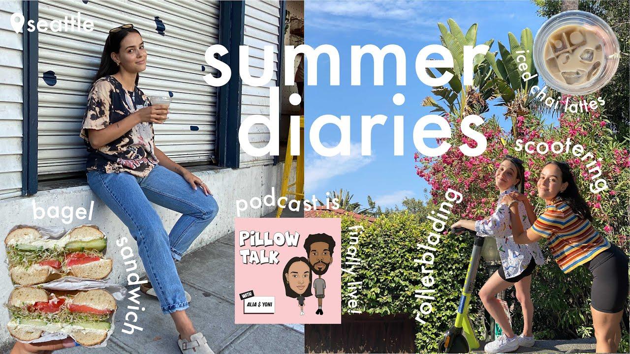 a realistic weekend in my life // bagels + rollerblading + summer diaries