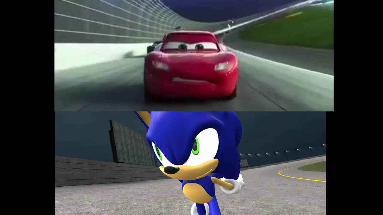 Mcqueen Crash Normal Version And Sonic Version Side By Side Youtube