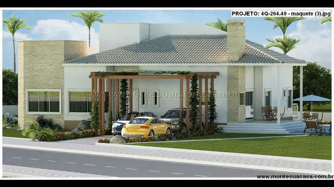 Fachadas de casas de 4 quartos youtube for Fachadas de casas modernas 1 pavimento