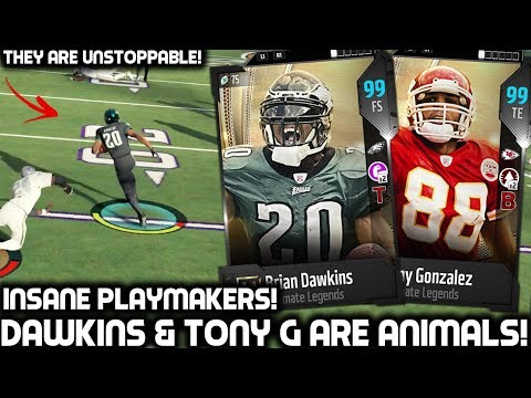 BRIAN DAWKINS & TONY GONZALEZ ARE ANIMALS! Madden 18 Ultimate Team