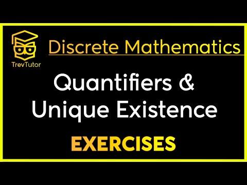 [Discrete Math 1] Unique Quantifier Examples