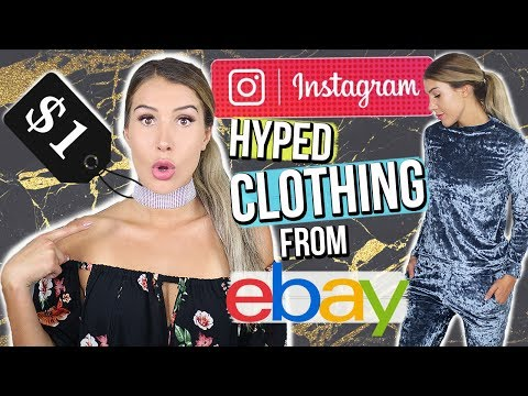 INSTAGRAM HYPED CLOTHES I Bought From Ebay!