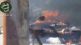 Горящий танк мстит! Война в Сирии! Жесть Видео 2013