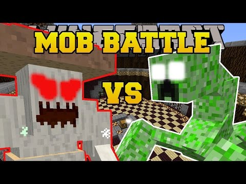 Minecraft: CRUSHROOM VS MUTANT CREEPER - MOB BATTLE - Modded Mini-Game Challenge