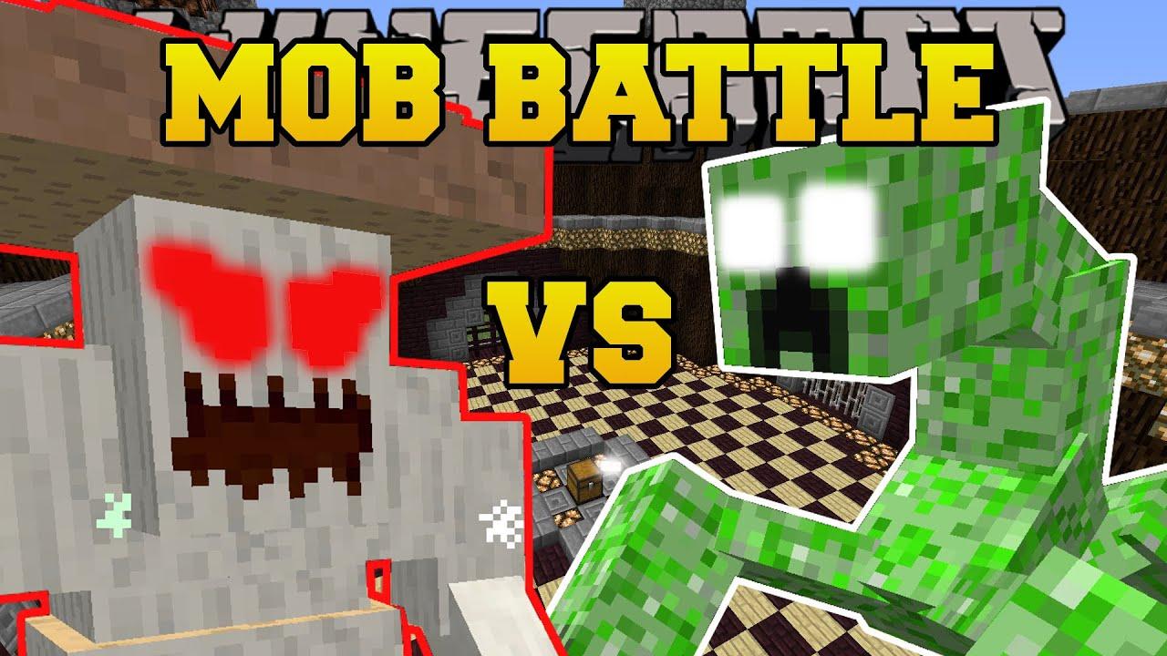 Minecraft crushroom vs mutant creeper mob battle - Minecraft zombie vs creeper ...