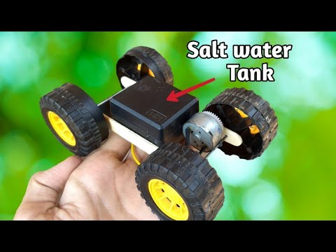 How To Make A Salt Water Powered Car Using 3V Motor!| Free Energy|
