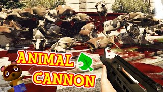 GTA 5 Mods - The Animal Cannon - (GTA V PC - Fun With Mods)