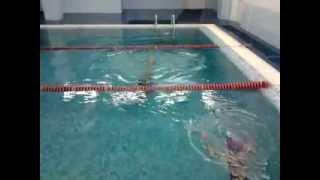 Тренировка 15/07/2013. Синхронное плавание. Учим учим ...Барракуда