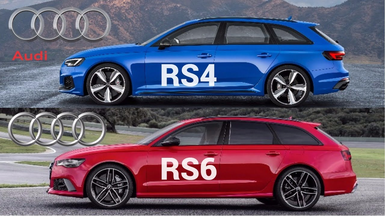 2018 Audi Rs4 Avant Vs Audi Rs6 Avant Youtube