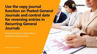 Use the Copy Journal function on Posted General Journals in Business Central