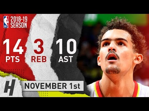 Trae Young Full Highlights Hawks vs Kings 2018.11.01 - 14 Pts, 10 Ast, 3 Rebounds!
