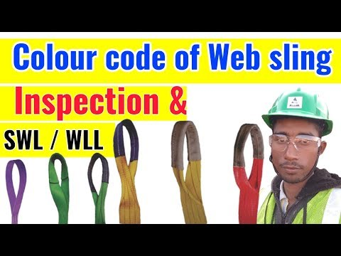 Colour Code Of Web Sling / Inspection Of Lifting Belt In Hindi