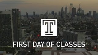 First Day of Classes at Temple University