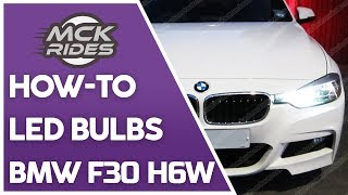 h6w bax9s led bulb replacement change on a bmw 3 series f30 f31