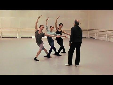 Monotones II rehearsal - The Royal Ballet