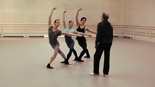Monotones II rehearsal - The Royal Ballet
