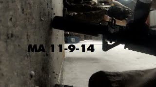 Miami Airsoft 11-9-14 RAW (I get knocked to ground)