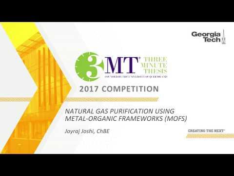 Natural Gas Purification Using Metal Organic Frameworks MOFs by Jayraj Joshi