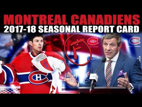 Montreal Canadiens Seasonal Report Card (2017-18)