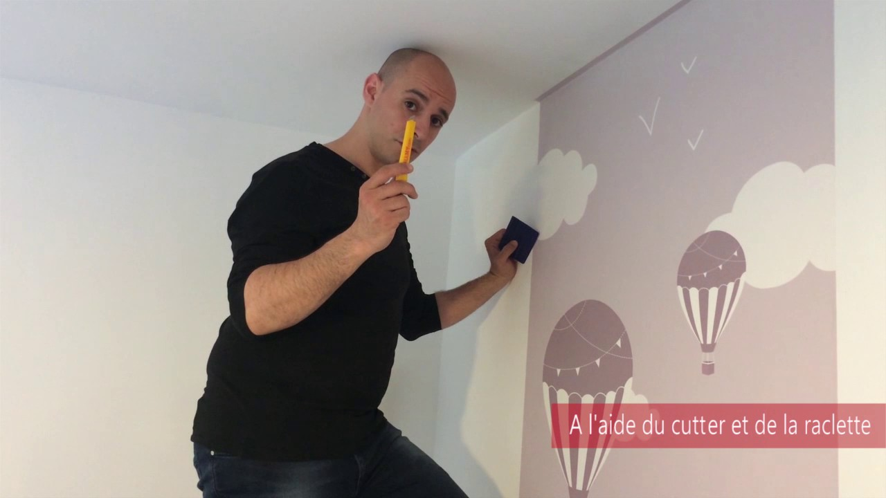 Poser votre papier peint pr encoll wallmy youtube - Revetement mural isolant phonique ...