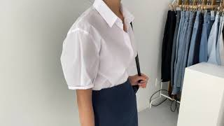 여름코디❣ 반팔셔츠 H라인 린넨롱스커트 | 사색 쇼핑몰…