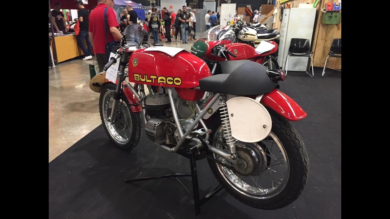 bultaco and montesa stands in retro moto barcelona