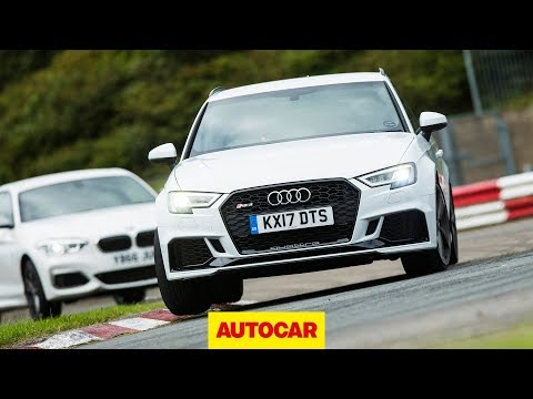 Audi RS3 vs BMW M140i track battle | Hot hatch review | Autocar