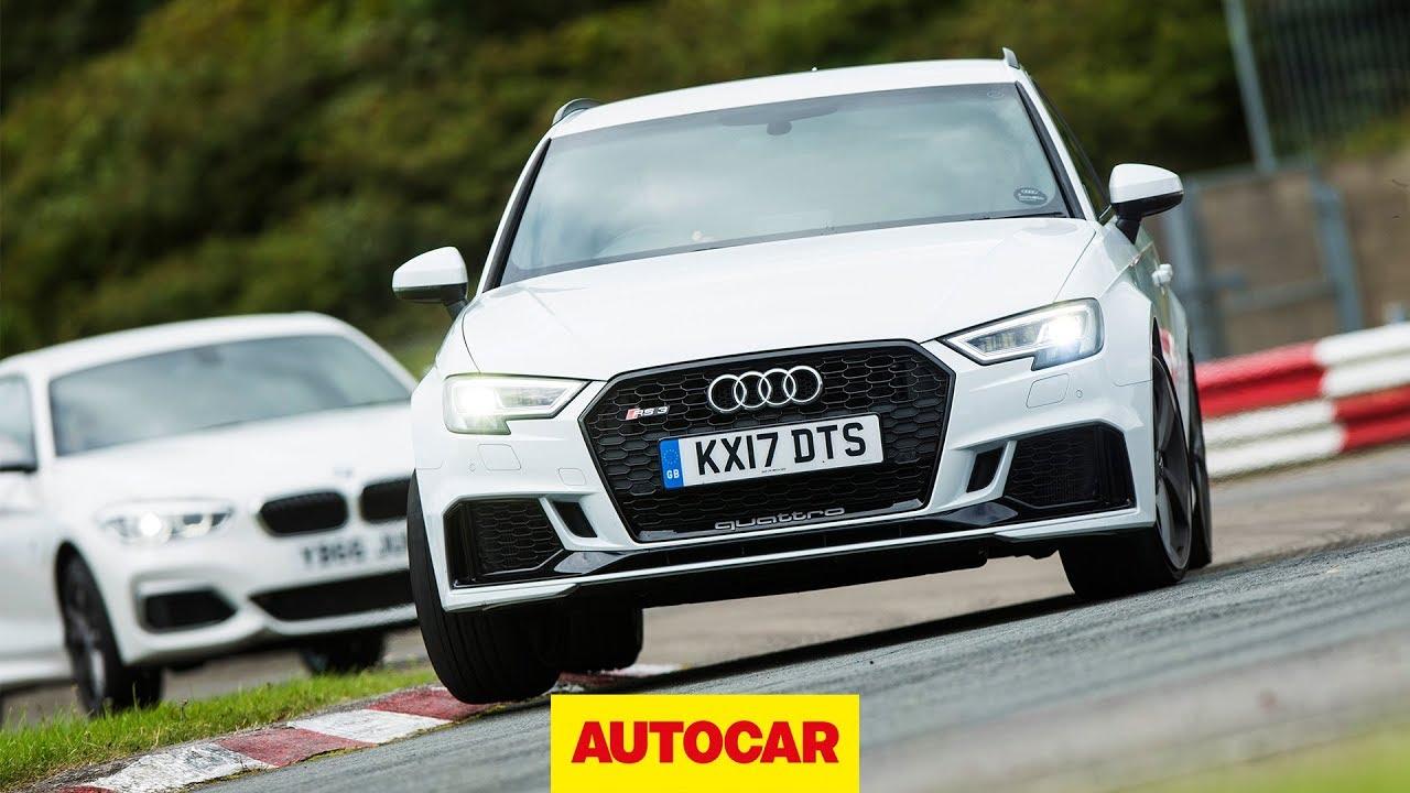 Audi RS Vs BMW Mi Track Battle Hot Hatch Review Autocar - Audi autocar