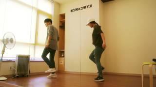 남자  크록하 스텝 개인기 춤배우기