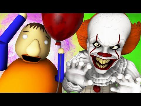 Балди vs Пеннивайз 2 (Оно Танцующий Клоун Хоррор 3D Анимация)